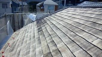 スレート系屋根材の劣化度合い
