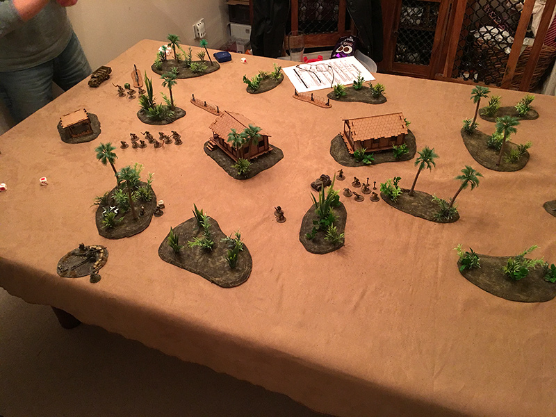 The American Marines take on a detachment of Imperial Japanese Army in game one of a new campaign.