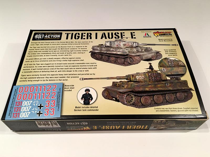 Bolt Action Tiger 1 - Rear Box