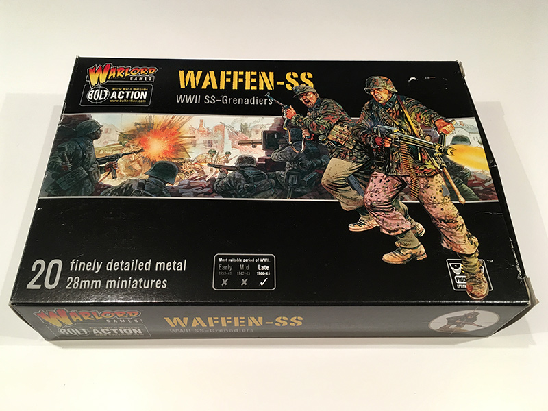 Bolt Action Waffen SS - Front of Box