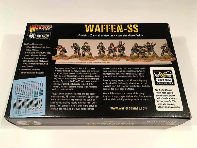 Bolt Action Waffen SS - Rear of Box