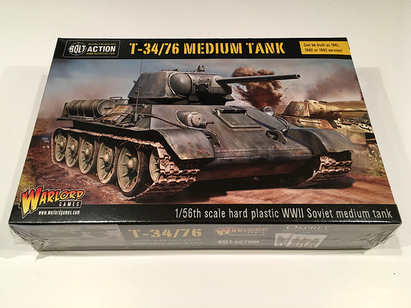 Bolt Action T34/76 - Front of Box
