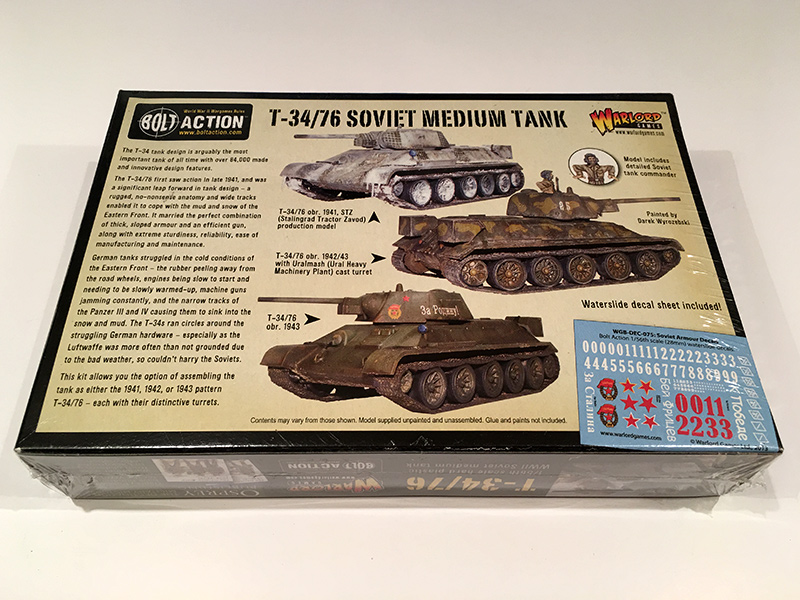 Bolt Action T-34/76 Box Rear