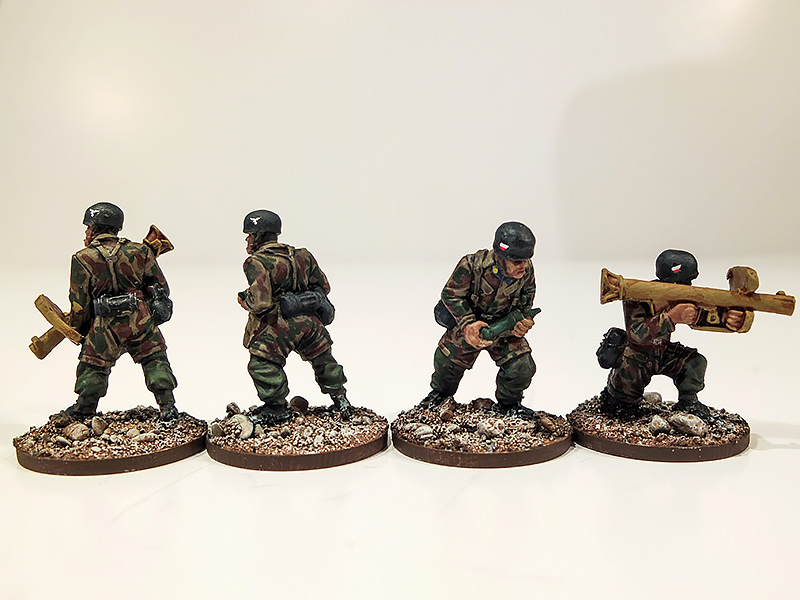 German Fallschirmjager Panzerschrek Teams