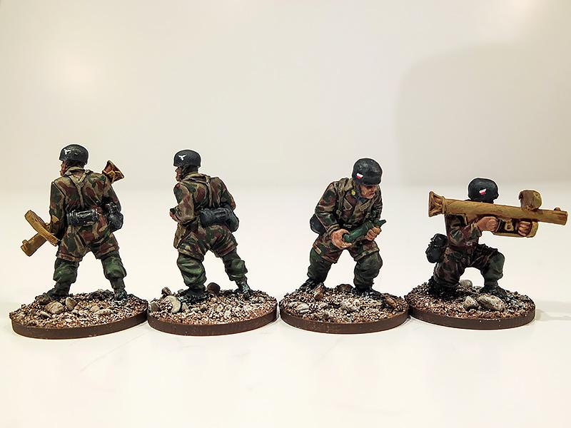 German Fallschirmjager Panzerschrek Teams