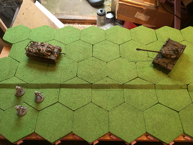 Completed Hex Section
