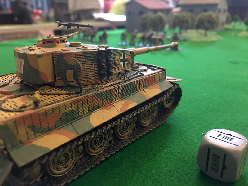 The German Tiger remains still during the first two moves
