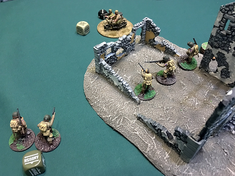 The American centre advance in a last ditch effort to take casualties
