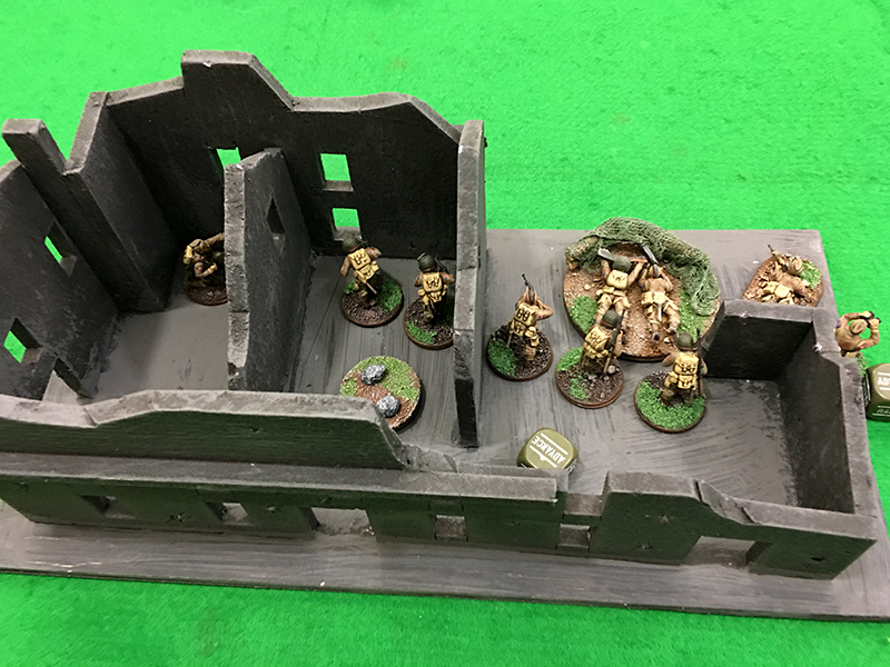 82nd Airborne squad 1 set up in the objective