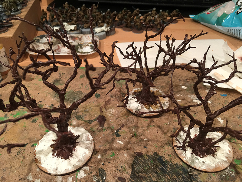 Basic Tree Painted Brown