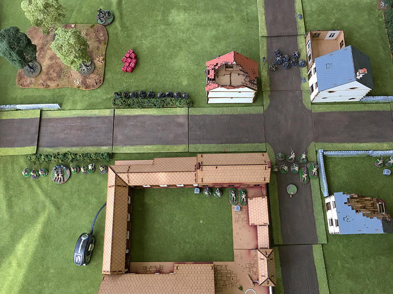 The Americans approach the road