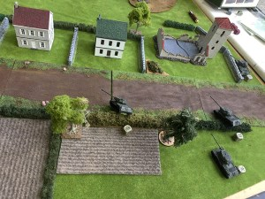 The Russian right flank advance over the hedges