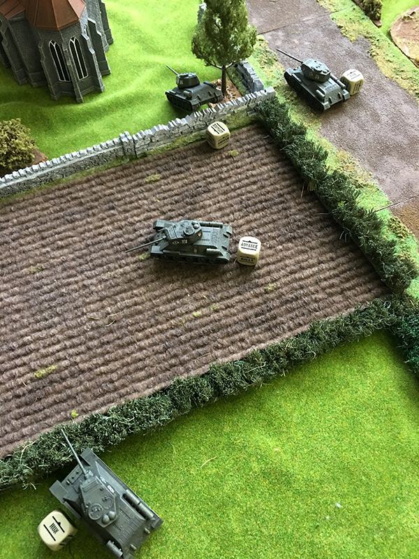 Russians outflanking through the field