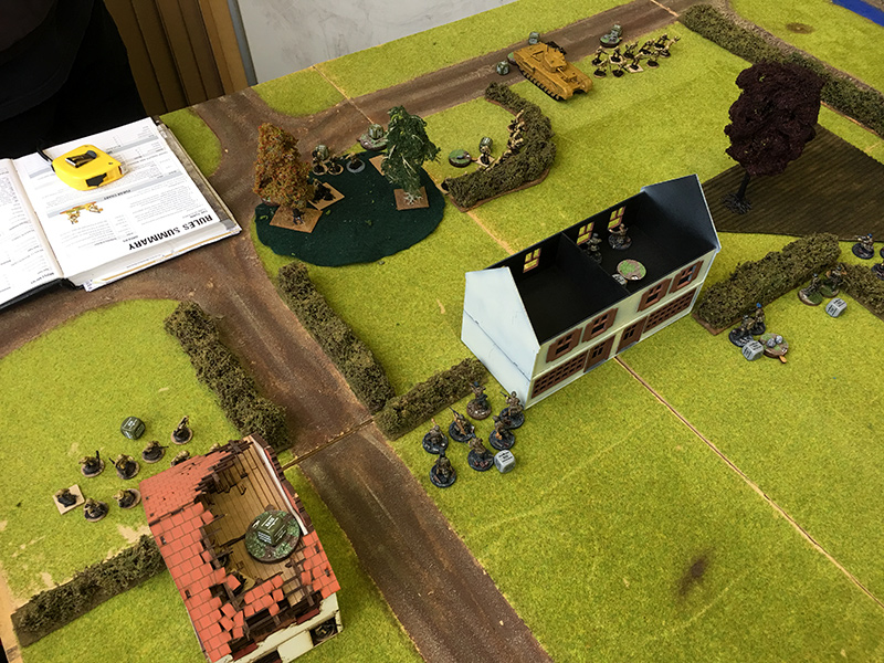 German second platoon gets closer to an engagement