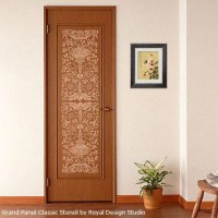 Stylish and Welcoming Stenciled Doors - Paint + Pattern