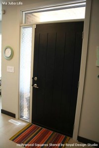 Door-geous Stenciling on Glass! | Paint + Pattern