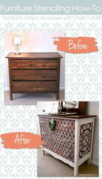 Transform a Chest with Chalk Paint & Furniture Stencils