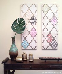 DIY Decoupage Wall Art with a Flair for the Exotic | Paint ...