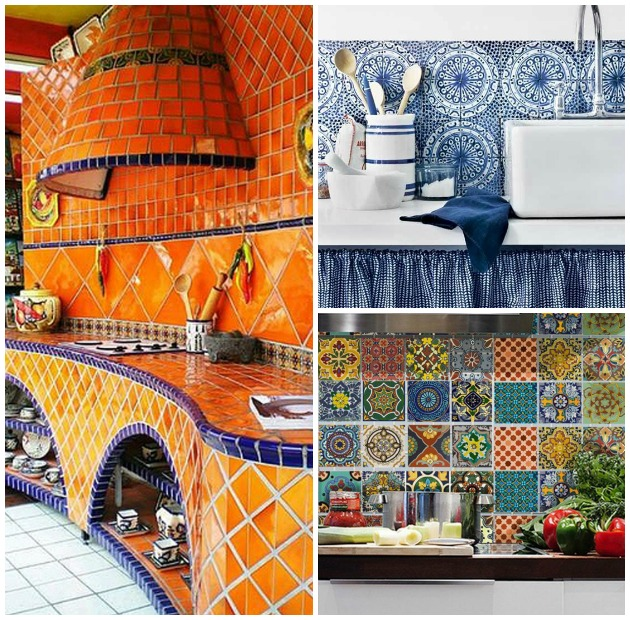 Add A Pop Of Artful Color To Your Homes Using Mexican Talavera Tiles Paint Pattern