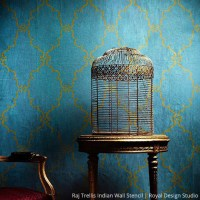 Once in a Blue Room with Stencils | Paint + Pattern