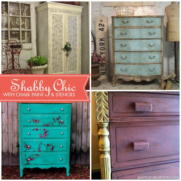 We cherish the beauty of imperfection: Chalk Paint Furniture Styles Much More Than Shabby Chic Paint Pattern