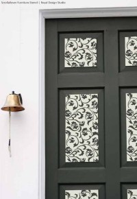 Door Decorations with Stencils | Paint + Pattern