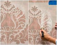 How to Stencil: Stenciling a Textured Fabric Wall Finish ...