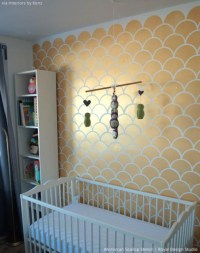 5 Baby Room Dcor Accent Walls Ideas with Nursery Stencils ...