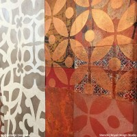 Layering Pattern with Stencil Art   Paint + Pattern