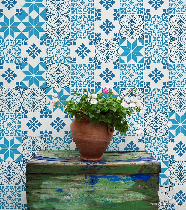 Mediterranean Style Interior Design  Paint  Pattern