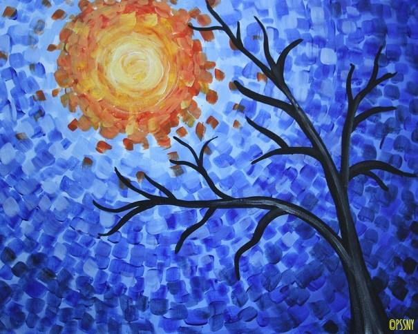 Fanciful Blue Tree