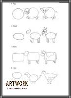 رسومات فنيه سهله للاطفال