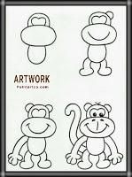 طريقة رسم القرد للمبتدئين