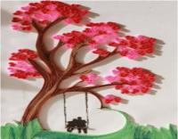 اعمال يدوية بالورق سهلة جدا, طريقة عمل لوحة فنية بالورق الملون
