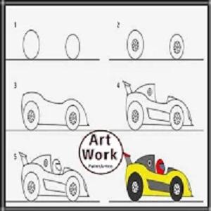 افكار رسومات سيارات للاطفال والمبتدئين
