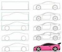 كيفية رسم سيارة فيراري للمبتئدين