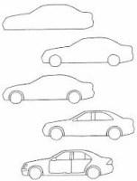 رسم سيارة للاطفال خطوة بخطوة