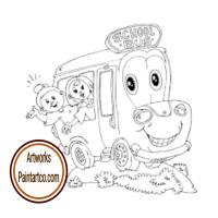 رسم سيارات للتلوين