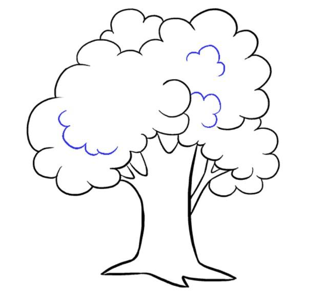 رسومات اشجار للاطفال كيف ارسم شجره جميله بالرصاص للمبتدئين