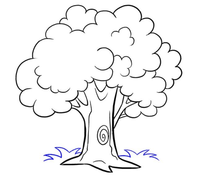 تعليم الرسم للاطفال بطريقة سهلة ، كيفية رسم شجرة وتلوينها
