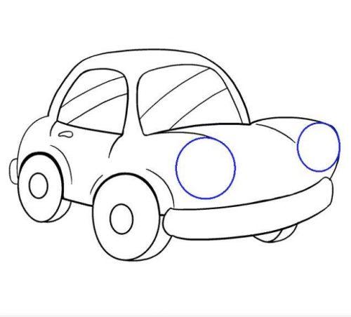 رسم سيارات للاطفال