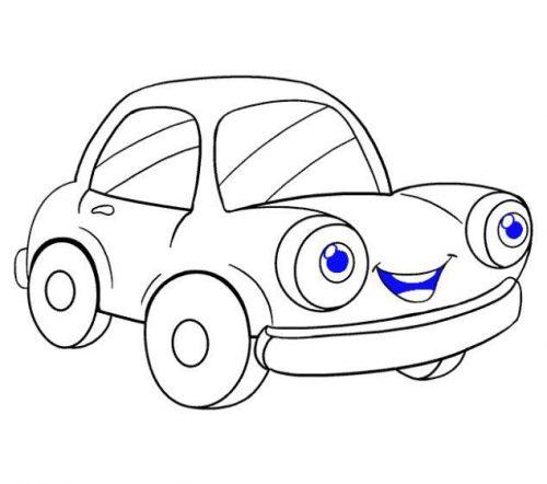 كيف ترسم سياره اطفال