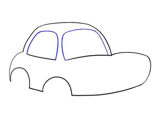 رسمة سيارة للاطفال