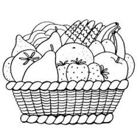 رسومات للتلوين للاطفال للطباعة pdf سلة فاكهة