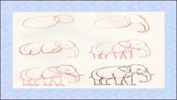 رسومات اطفال حيوانات سهله