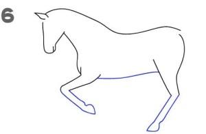 تعليم الاطفال طريقة رسم الحصان بالتفصيل
