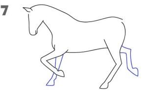 رسم حصان سهل للمبتدئين بالرصاص