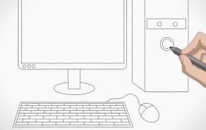 رسمة كمبيوتر للتلوين