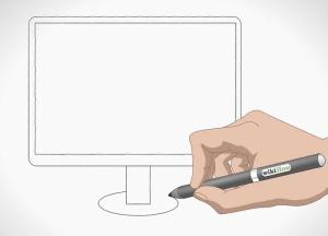 رسم شاشة كمبيوتر للمبتدئين والأطفال