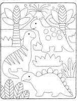 تلوين ديناصورات للاطفال